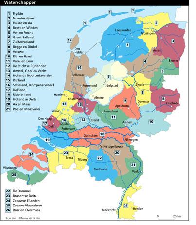 Waterschappen Kaart
