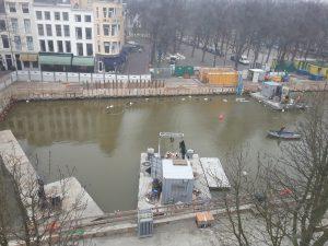 parkeren rond de Hofvijver - Parkeergarage Museumkwartier Den Haag bouw