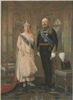 Koningin Wilhelmina en Prins Hendrik zilveren huwelijksfeest 1826