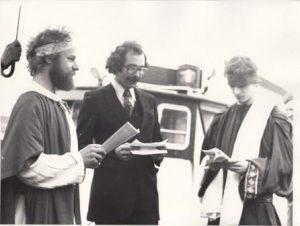 HSV Arrival Sokrates at Scheveningen harbour 1976