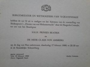 Reading the bans Beatrix & Claus