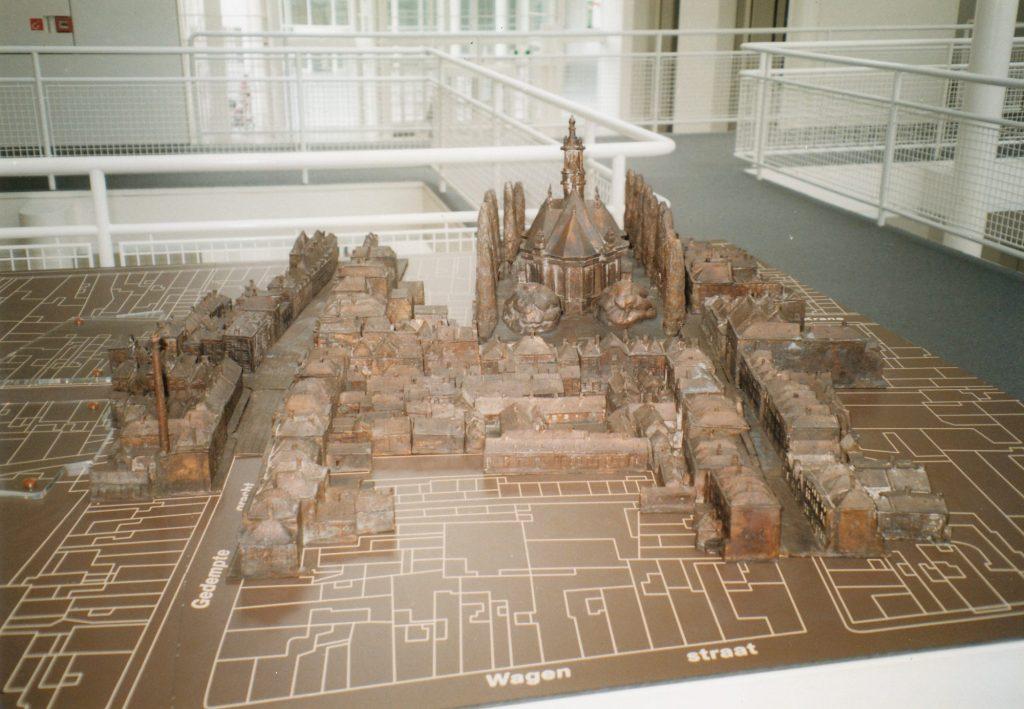 Maquette Joodse Buurt boven