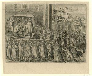De onthoofding van Johan van Oldenbarnevelt, 1619, anoniem, 1619