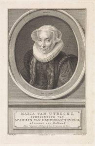 Portret van Maria van Utrecht, Reinier Vinkeles (I), naar Michiel Jansz. van Mierevelt, 1758 - 1816