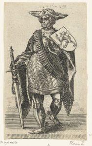 Portret van Floris II, graaf van Holland, Adriaen Matham, 1620