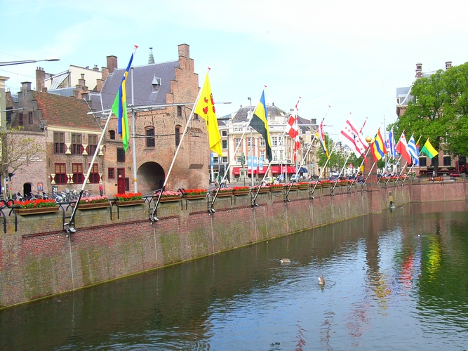 Provincie Zuid-Holland provincievlag Vijverdam Den Haag