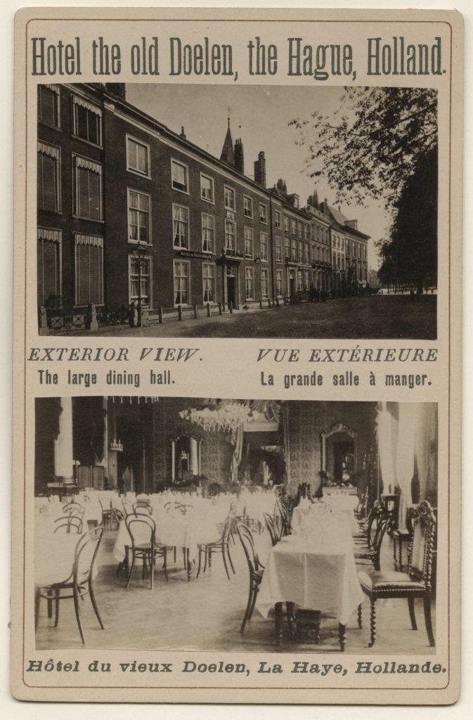 Tournooiveld, Hotel du Vieux Doelen ca 1890 2 - Collectie Haags Gemeentearchief
