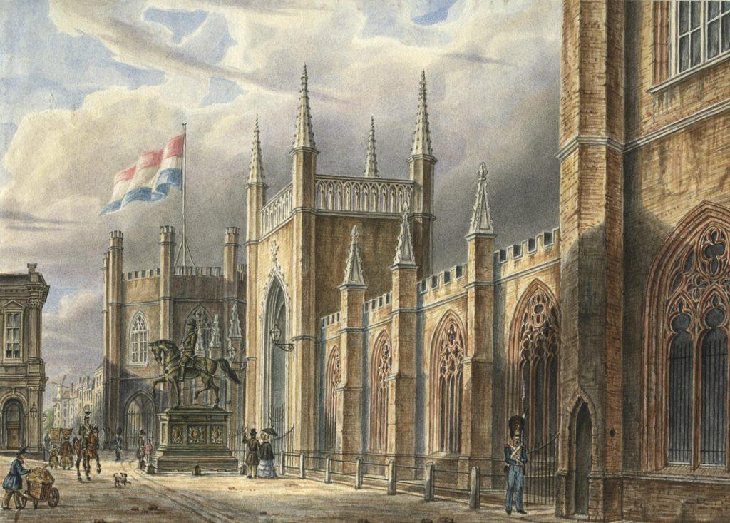 Gotische Galerij tegenover Paleis Noordeinde A. Wijnantz - 1847 - coll. HGA
