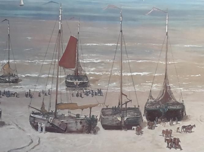 Panorama Mesdag Bomschuiten op het strand
