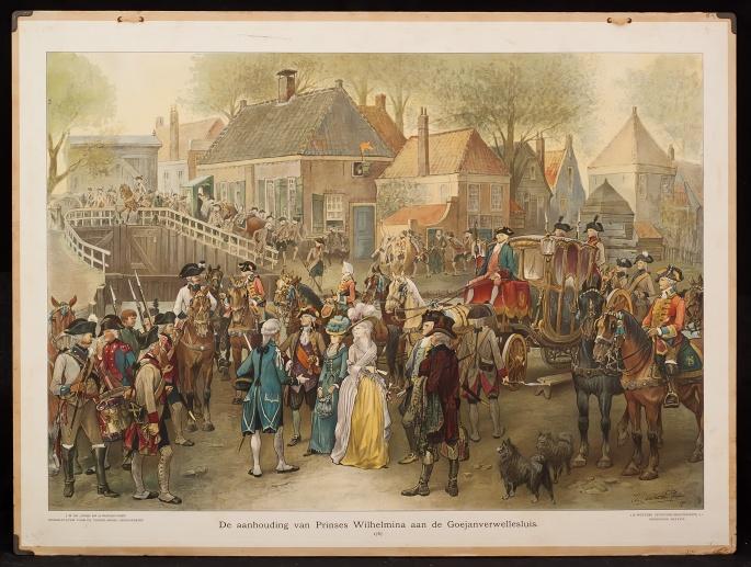 De aanhouding van Prinses Wilhelmina 1787 - J.J.R. Wetstein Pfister - Coll History Wall Charts