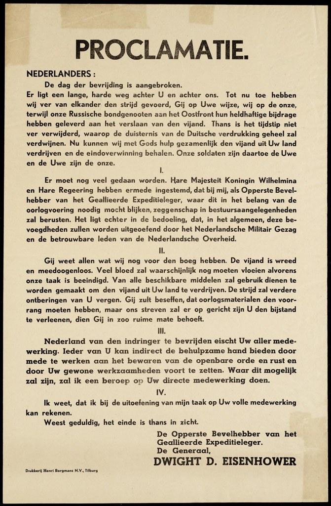 Opdrachtgever Militair Gezag - drukker Drukkerij Henri Bergmans N.V Tilburg