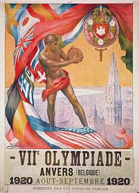 De officiële affiche van de Zomerspelen van 1920 in Antwerpen - Wikipedia